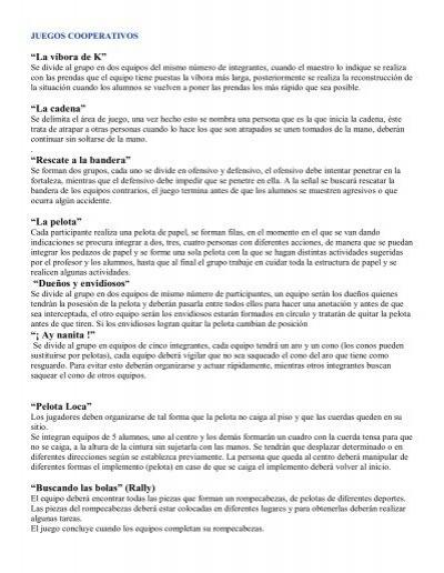 Juegos Cooperativos Diaz Velez Bojanich