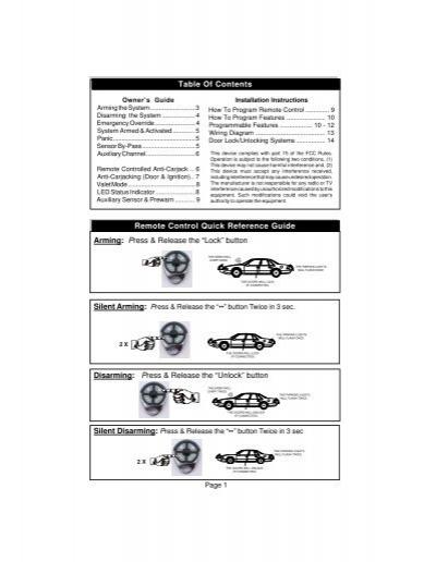 K9 Alarm Remote manual on