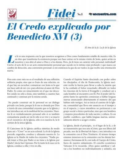 El Credo explicado por Benedicto XVI (3)