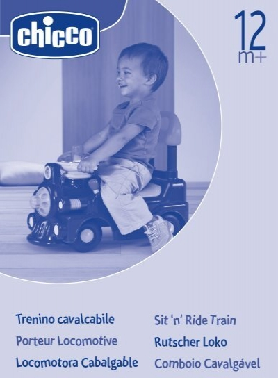 Trenino cavalcabile porteur locomotive locomotora chicco for Trenino cavalcabile chicco