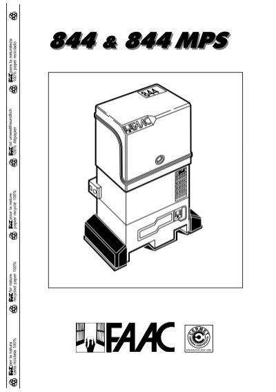 Faac 412 with 450 mps control panel manual gates.