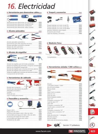 Facom 985753 ALICATES DE ENGATILLAR DE PRODUCCION PARA TERMINALES PREAISLADO 1000VS