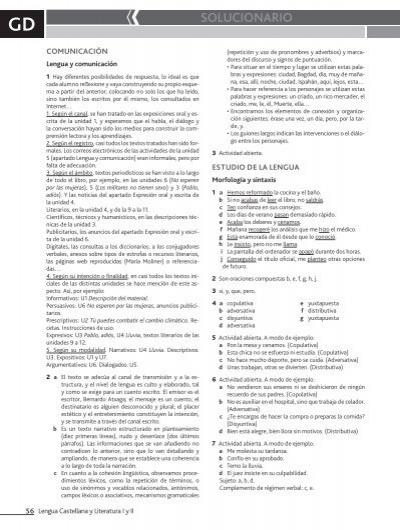 solucionario lengua castellana y literatura 4 eso anaya