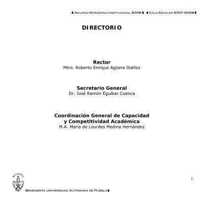 Directorio Transparencia Benemã Rita Universidad