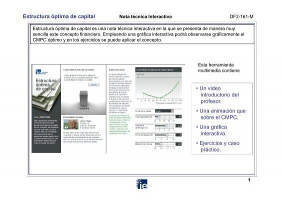 Estructura óptima De Capital Ie Multimedia Documentation