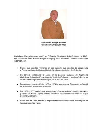 Cuitláhuac Rangel Alcaraz Resumen Curriculum Vitae Cuitláhuac ...