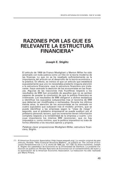 Razones Por Las Que Es Relevante La Estructura Financiera