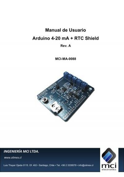 Manual de usuario arduino ma rtc shield olimex