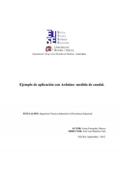 Ejemplo de aplicación con arduino medida caudal