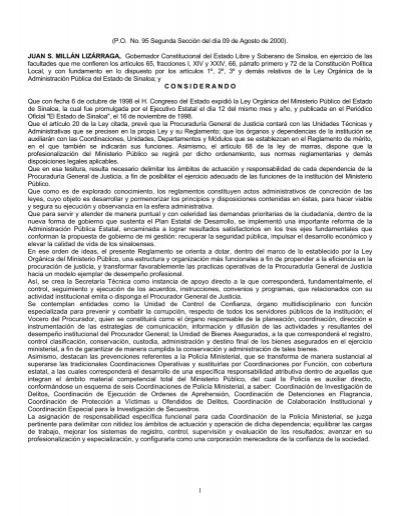 Reglamento de la ley organica del ministerio p blico del for Ley de ministerios