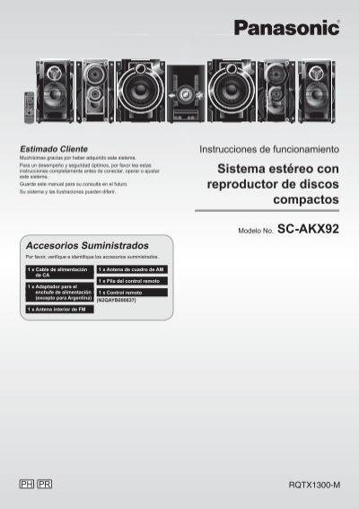 panasonic sa pt850 manual pdf
