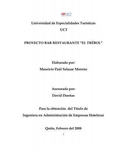 Proyecto bar restaurante el repositorio for Proyecto restaurante pdf