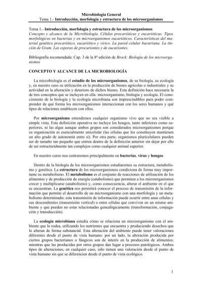 Concepto Y Alcance De La Microbiología