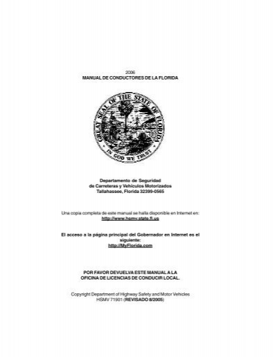 2006 manual de conductores de la florida de  - dmv