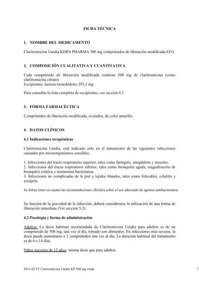 2011 04 Ft Claritromicina Unidia Kp 500 Mg Kern Pharma