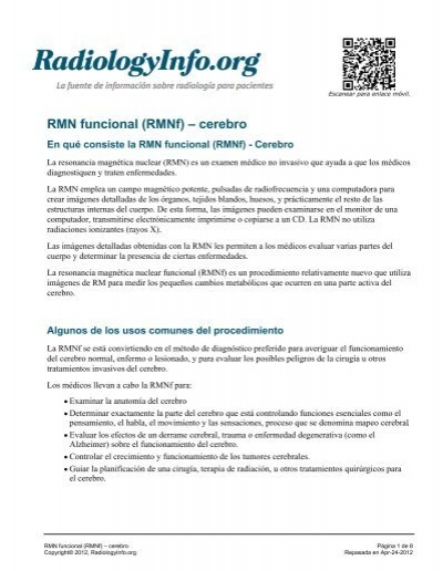 RMN funcional (RMNf) – cerebro - RadiologyInfo