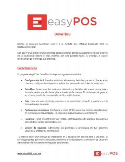 Factsheet Easypos Drivethru