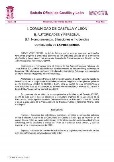 Boletin Oficial De Castilla Y Leon I Comunidad De Castilla Y Leon