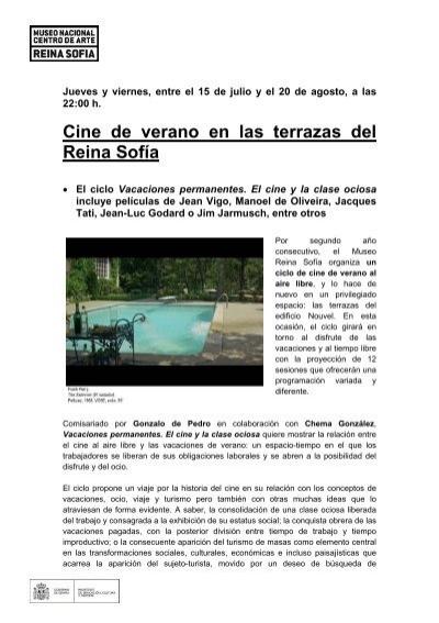 Cine de verano en las terrazas del reina sof a for Cine las terrazas