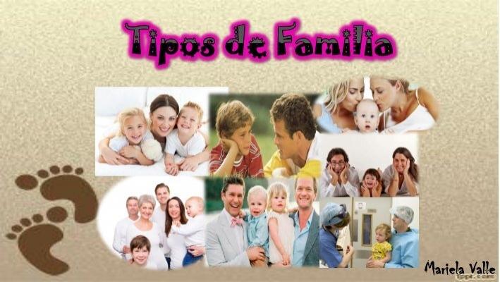 Lbum tipos de familia for Tipos de familia pdf