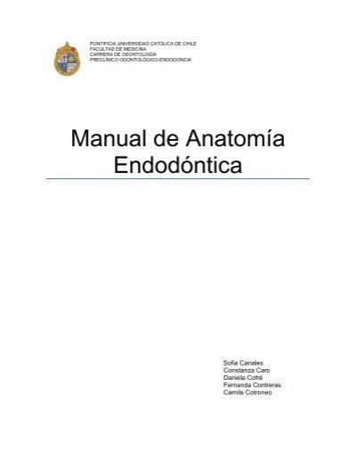 Manual Anatomía Endodóntica