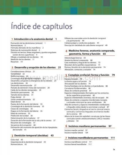 índice de capítulos 1 I