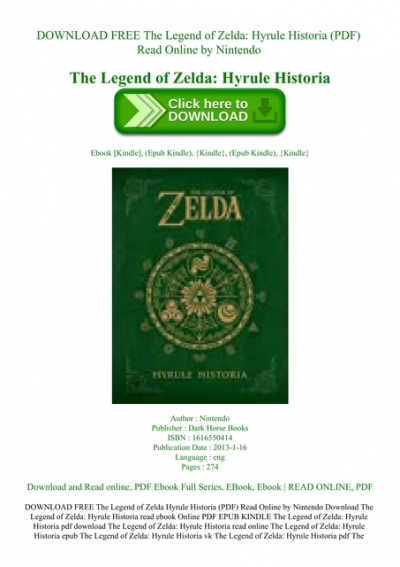 Download Free The Legend Of Zelda Hyrule Historia Pdf Read Online By Nintendo