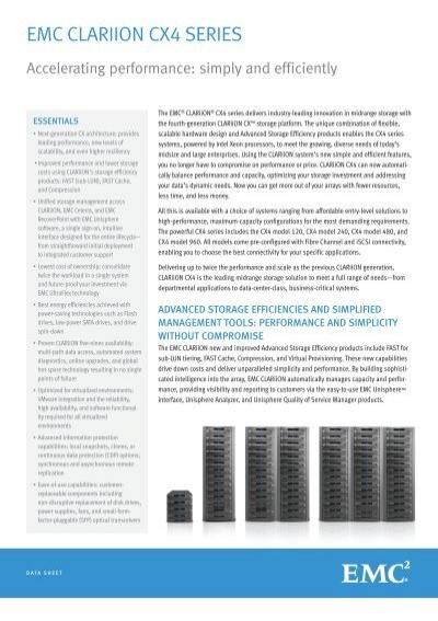 h5527 4 emc clariion cx4 series data sheet rh yumpu com EMC Storage Array EMC SATA Drives