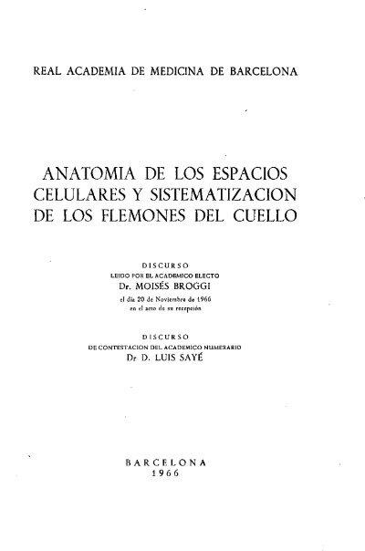 ANATOMIA DE LOS ESPACIOS CELULARES Y SISTEMATIZACION ...