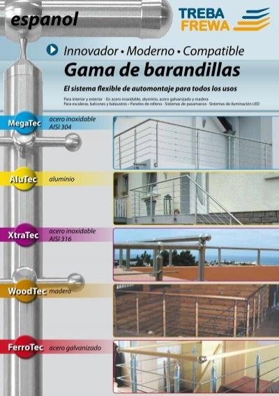 Pasamanos Madera de Haya, 45 mm, redondo, 2000 /– 3000 mm de largo, incluye 3 acero inoxidable plana /_ nuevo