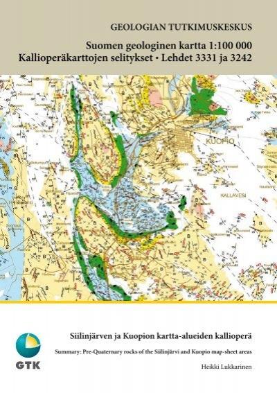 Suomen Geologinen Kartta 1 100 000 Kallioperakarttojen Selitykset