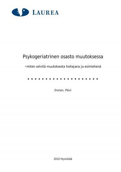 Psykogeriatrinen Osasto