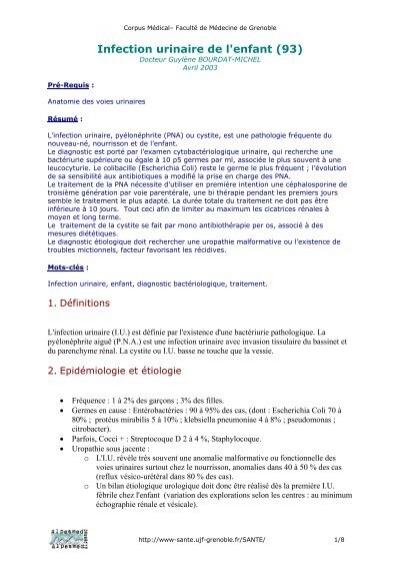 Infection urinaire de l'enfant (93) - Pôle Santé de Grenoble