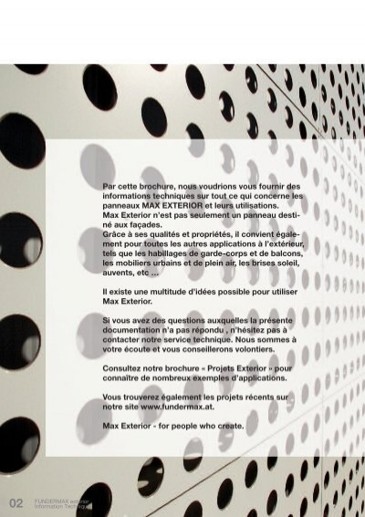 02 fundermax exterior inf. Black Bedroom Furniture Sets. Home Design Ideas