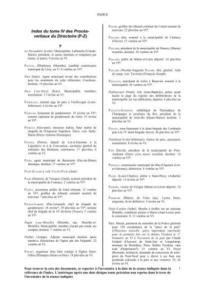 Index Tome Iv P Z Archives Nationales
