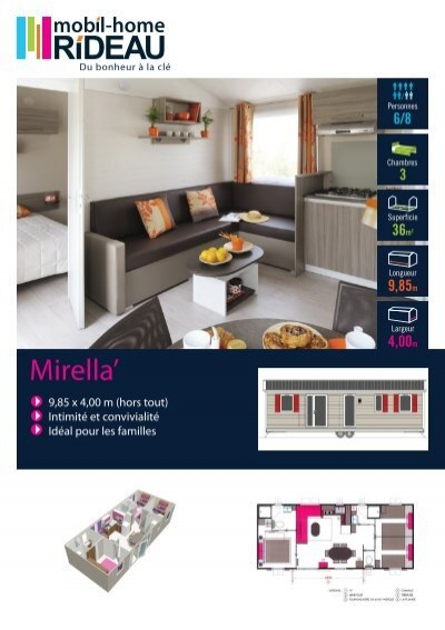 fiche mirella mobil home rideau. Black Bedroom Furniture Sets. Home Design Ideas