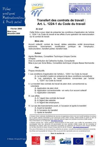 code du travail 1224-1
