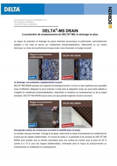 delta ms drain nappe excroissances drainante sp ciale. Black Bedroom Furniture Sets. Home Design Ideas