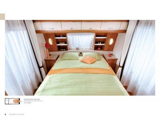 excellent 560 uff lit milieu hobby caravan. Black Bedroom Furniture Sets. Home Design Ideas