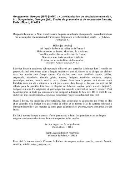 Articles de datation 2013