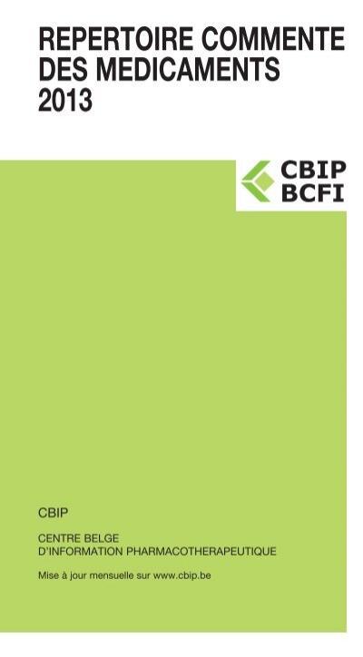 repertoire commente des medicaments 2013 cbip. Black Bedroom Furniture Sets. Home Design Ideas