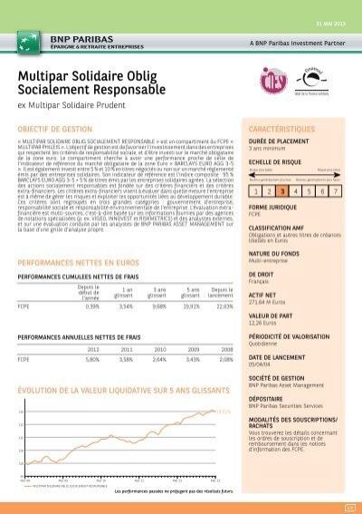Fiche De Reporting Bnp Paribas Epargne Retraite Entreprises