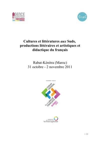 Cultures Et Litteratures Aux Suds Productions Litteraires Et Artistiques