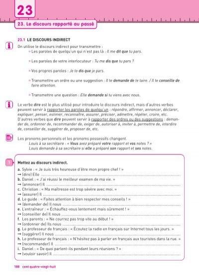 Unite 23 Le Discours Rapporte Au Passe Frances
