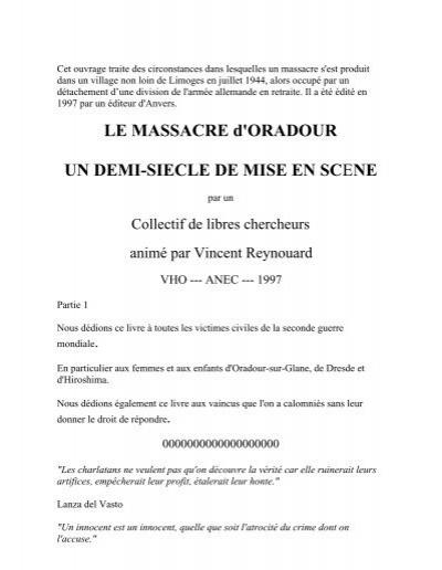 Vincent Travail ReynouardSur Oradour GlaneEt De YWH9IED2