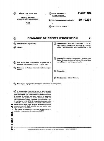 Demande de brevet d 39 invention questel - Comment commercialiser une invention ...
