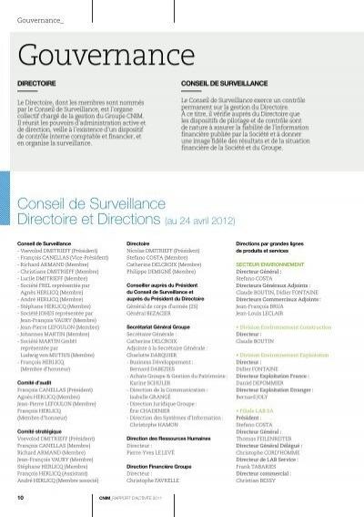 Gouvernance gouvernance for Ptable italiano