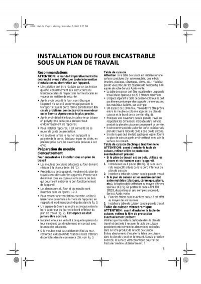 Installation du four encastrable sous un plan de travail - Installer un four encastrable ikea ...