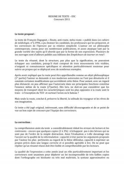esc-resume de texte  pdf