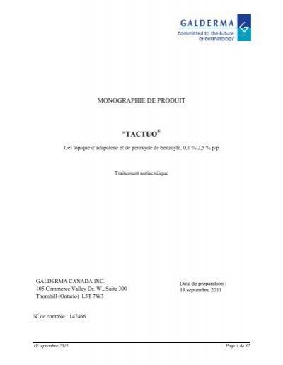 Tactuo - Galderma Canada